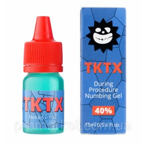 Гель анестетик для вторичной анестезии TKTX 40% (Blue) 15мл