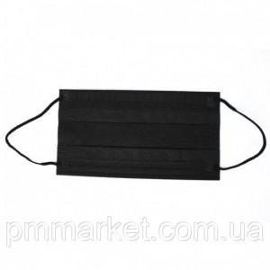 Защитная черная маска, Маска-повязка 1шт.