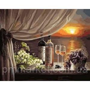 "Картина по номерам ""Вино на закате"" размер 40*50 см"