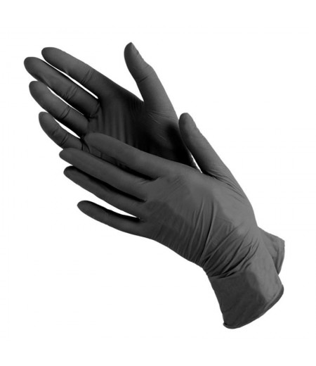 Перчатки нитриловые XS неопудренные100 шт/уп (черные)