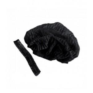 Шапочка одноразовая черная (100 шт)