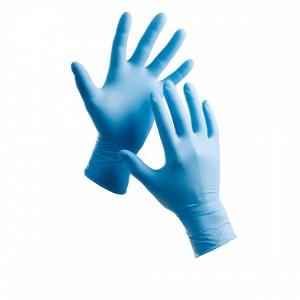Перчатки нитриловые M неопудренные 100 шт/уп голубые