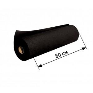 Простынь спанбонд в рулоне черная (ширина 80 см, длина 100 м.)