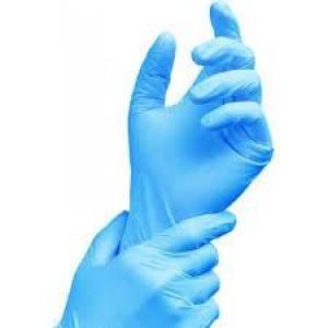 Перчатки нитриловые L неопудренные 100 шт/уп голубые