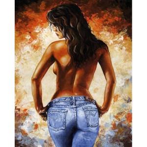 """Картина по номерам """"Девушка в джинсах"""" 40*50 см"""