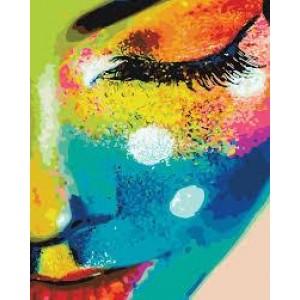 """Картина по номерам """"Девушка в красках"""" размер 40*50 см"""