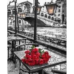 """Картина по номерам """"Венеция и розы"""" размер 40*50 см"""