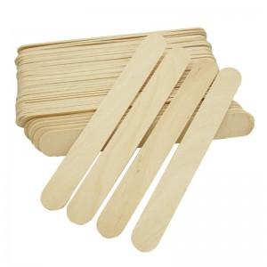 Шпатель широкий лопатка косметологическая деревянная (100 шт)