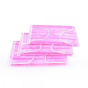 Маска медицинская 50 шт (розовая)