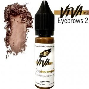 VIVA ink Eyebrows 2 (6мл) пигмент для татуажа