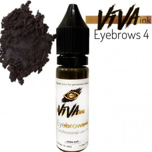 VIVA ink Eyebrows 4 (6мл) пигмент для татуажа