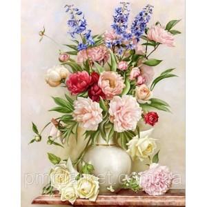 """Набор алмазной вышивки мозаики """"Цветы в вазе"""" 30*40 см"""