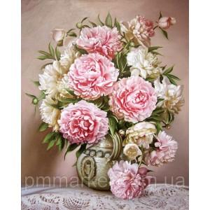 """Набор алмазной вышивки мозаики """"Цветы в вазе Вам"""" 30*40 см"""