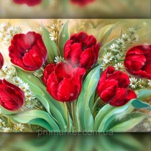 Алмазная вышивка Яркие тюльпаны 30x40 The Wortex Diamonds (TWD10061)