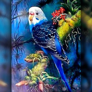 Алмазная вышивка Голубой попугай 30x40 The Wortex Diamonds (TWD20045)