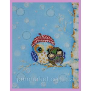 Набор для вышивки бисером Веселые совята- 5