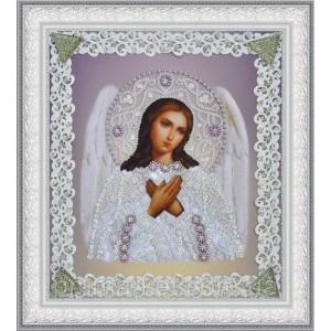 Набор для вышивки бисером Икона Ангела Хранителя (серебро) ажур