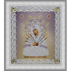 Набор для вышивки бисером Икона Божьей Матери Семистрельная (ажур)