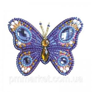 """Набір для вишивки брошки """"Блакитний метелик"""""""