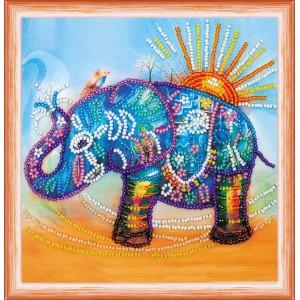Алмазная мозаика Красочный слон 30*40см Полная зашивка. Набор алмазной вышивки