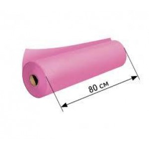 Простынь спанбонд в рулоне Розовая (ширина 80 см, длина 100 м.)