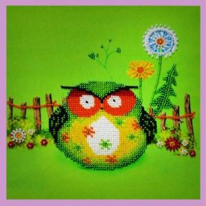 Набор для вышивки бисером Веселые совята- 2