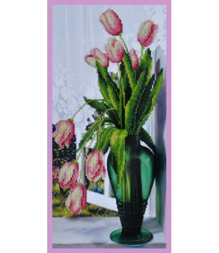 Набор для вышивки бисером Тюльпаны на окне