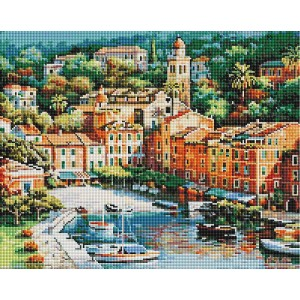 Алмазная мозаика 40х50 - Вид на город