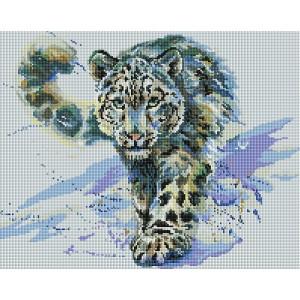 Алмазная мозаика 40х50 - Снежный Барс