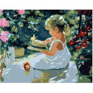 Девочка в саду