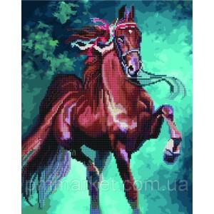 Алмазные картины-раскраски - Гнедая лошадь