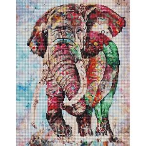 Алмазная мозаика 40х50 - Индийский слон
