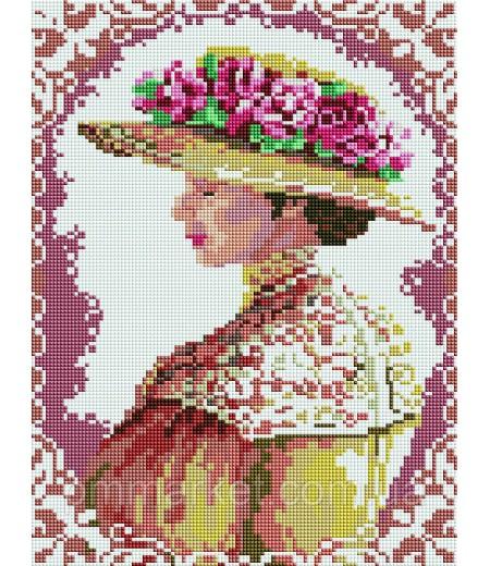 Алмазная мозаика 40х30 - Аристократическая дама