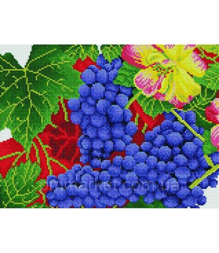 Алмазная мозаика 40х30 - Осенний виноград