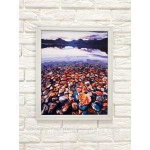 Багетная рамка (белая рельефная 3 см) 40х50