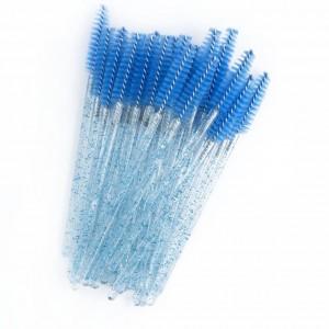 Щеточки для бровей и ресниц 1 шт (синяя)