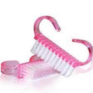 Щетка для удаления пыли с ногтей - Маникюрная щетка для пыли -  большая розовая