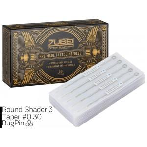 Тату иглы 3 Round Shader Zubei Supply ( Для закраса ) 1 штука