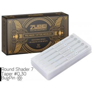 Тату иглы 7 Round Shader Zubei Supply ( Для закраса ) 1 штука