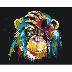 Красочная шимпанзе