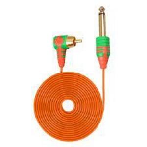Клип корд RCA тонкий шнур Оранжевый