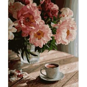 """Картины по номерам """"Кофе в уюте"""" 40*50см"""