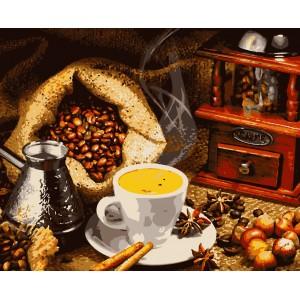 """Картины по номерам """"Ароматный кофе"""" 40*50 см"""