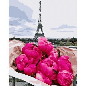 """Картины по номерам """"Париж, пионы"""" 40*50 см"""