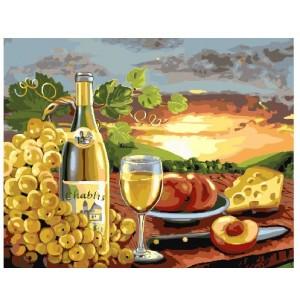 Белое вино с фруктами