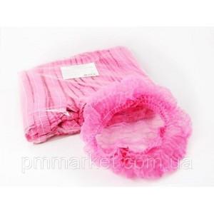Шапочка одноразовая розовая (1шт)