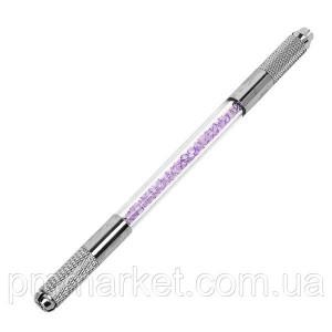 Манипула 2в1 для микроблейдинга (со стразами) Фиолет